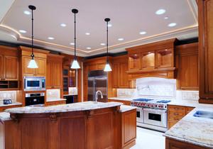 美式风格精致别墅整体厨房装修效果图
