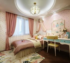 欧式风格粉色甜美儿童房装修效果图