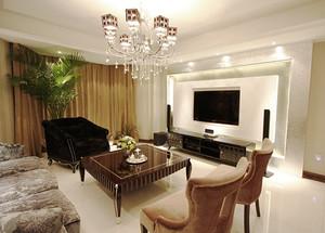 100平米欧式风格古典精美室内装修效果图