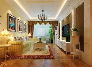 欧式田园风格精美一居室室内装修效果图