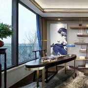 新古典主义风格大户型精致书房装修效果图