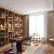 中式风格复古经典书房设计装修效果图