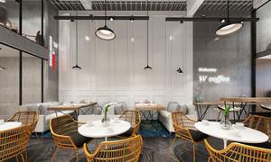 64平米简约风格餐厅设计装修效果图赏析