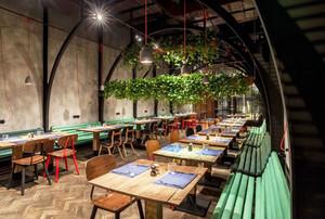 后现代风格精美餐厅设计装修效果图