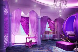 欧式风格精美酒店客房装修效果图