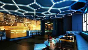 现代风格时尚酒吧卡座设计装修效果图