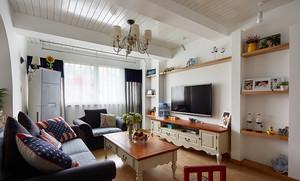 地中海风格温馨三室两厅室内装修效果图赏析