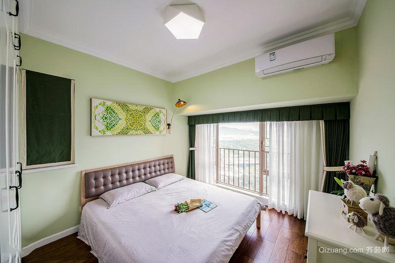 清新风格精美卧室设计装修实景图