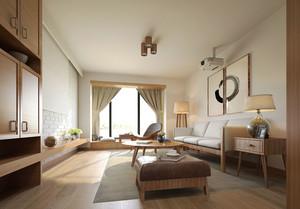 日式风格简约两室两厅室内装修效果图