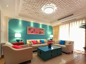 80平米田园风格清新室内设计装修效果图