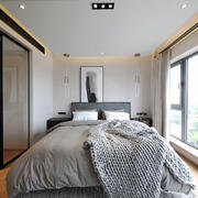 现代风格精致卧室隔断设计装修效果图
