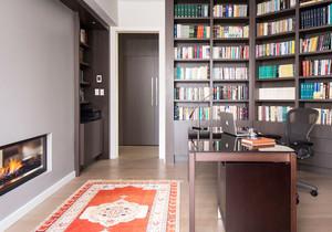 现代风格大户型精致书房设计装修效果图