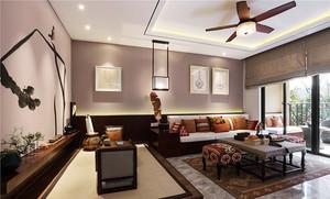 中式风格古典精致大户型室内装修效果图