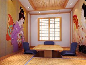 日式风格简约餐厅设计装修效果图