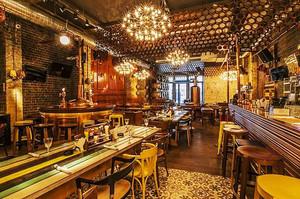 复古风格奢华精美酒吧设计装修效果图