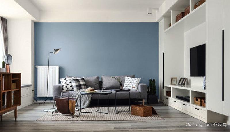 北欧风格简单时尚客厅设计装修效果图