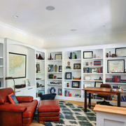 北欧风格简约大户型精美书房装修效果图