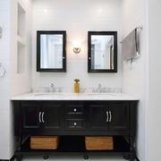 北欧风格简约卫生间浴室柜设计装修效果图