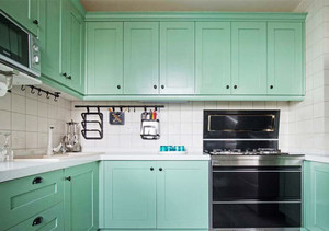 10平米现代风格精美厨房设计装修效果图