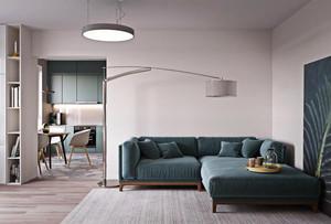 51平米简约风格单身公寓设计装修效果图