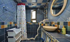 地中海风格清爽舒适两室两厅室内装修效果图赏析
