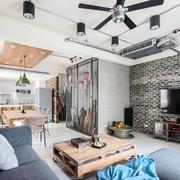 后现代风格精致客厅电视背景墙装修效果图