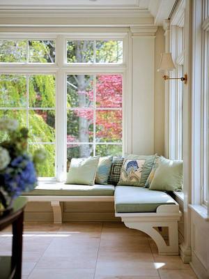 美式风格别墅室内精美飘窗设计装修效果图
