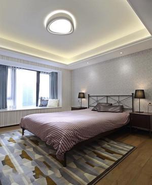 简欧风格精美卧室飘窗设计装修实景图