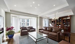 新古典主义风格复式楼室内装修效果图,在设计上,墙面大面积的使用了古典欧式色彩的壁纸配合经过提炼的欧式线条,复古有鲜活时尚。