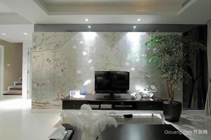 新中式风格精致素雅两室两厅室内装修效果图