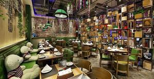 复古风格精美咖啡厅设计装修效果图