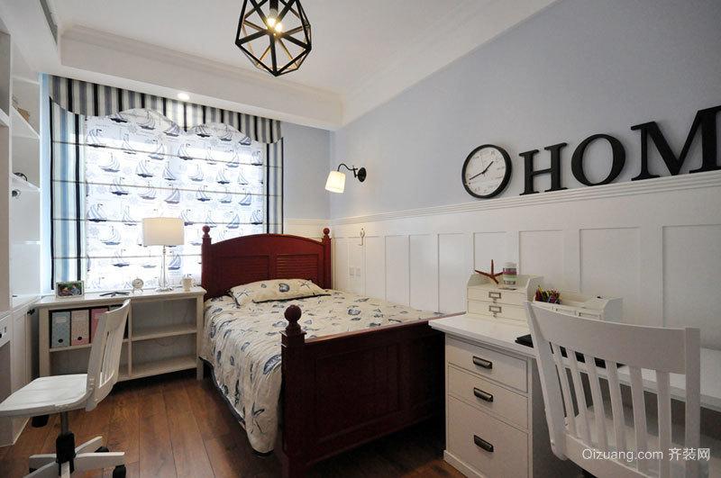 20平米美式风格精美儿童房设计装修效果图