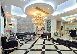 欧式风格别墅奢华精美客厅吊顶设计装修效果图