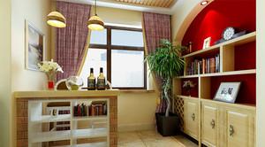 田园风格清新两室两厅室内装修效果图