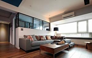 现代简约风格精美一居室室内装修效果图