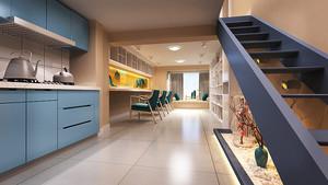 68平米新中式风格精致loft设计装修效果图