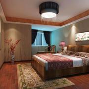 中式风格精致卧室设计装修效果图
