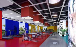 现代风格精致健身房设计装修效果图
