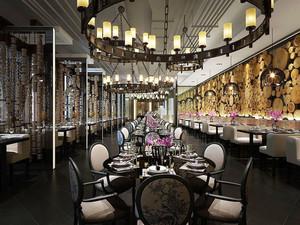 欧式风格精美西餐厅设计装修效果图