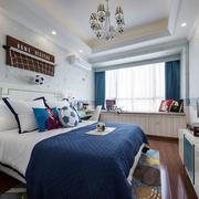 地中海风格清新男生儿童房设计装修效果图