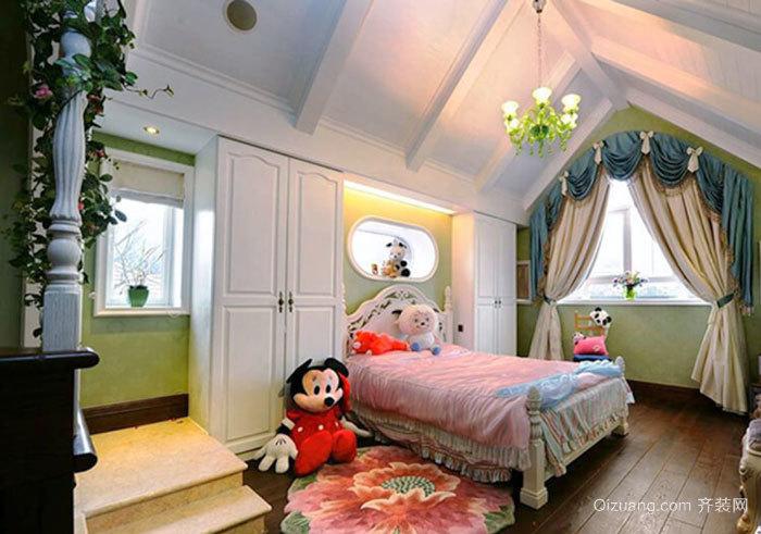 欧式风格精美阁楼儿童房装修效果图