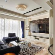 欧式风格精美客厅电视背景墙装修效果图