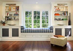 欧式风格精美收纳飘窗设计装修效果图