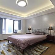 现代风格精致卧室飘窗设计装修效果图
