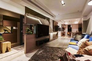 现代风格冷色调精致两室两厅一卫装修效果图