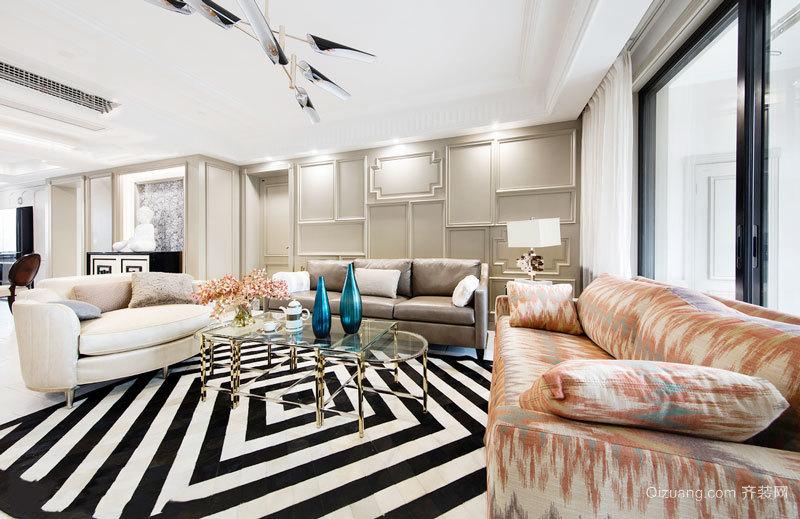 新古典主义风格大户型精美客厅装修图