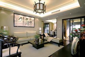 中式风格古典精致大户型室内装修效果图案例