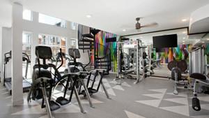 现代简约风格健身房设计装修效果图