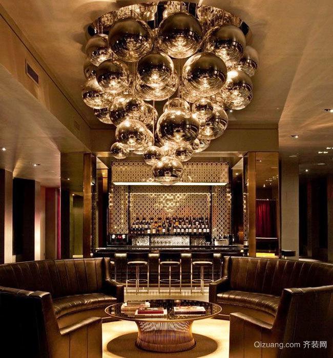 欧式风格奢华酒吧酒吧设计装修效果图