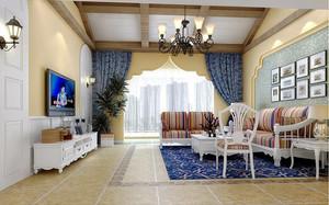 """地中海风格精美别墅室内设计装修效果图,""""地中海风格""""对中国城市家居的最大魅力,来自其纯美的色彩组合。让沉闷的生活焕发活力。"""